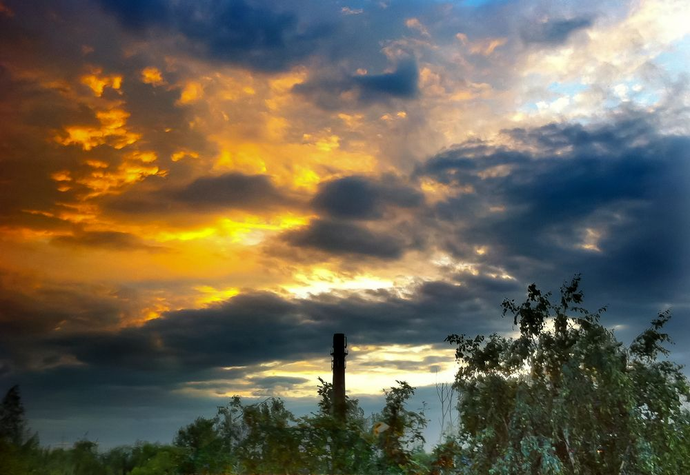 Himmel über Sachsenhagen