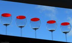 Himmel.Blau.Rot.Wein.Glas