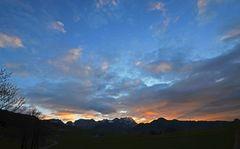 """Himmelsfarben über dem """"Alpstein"""""""
