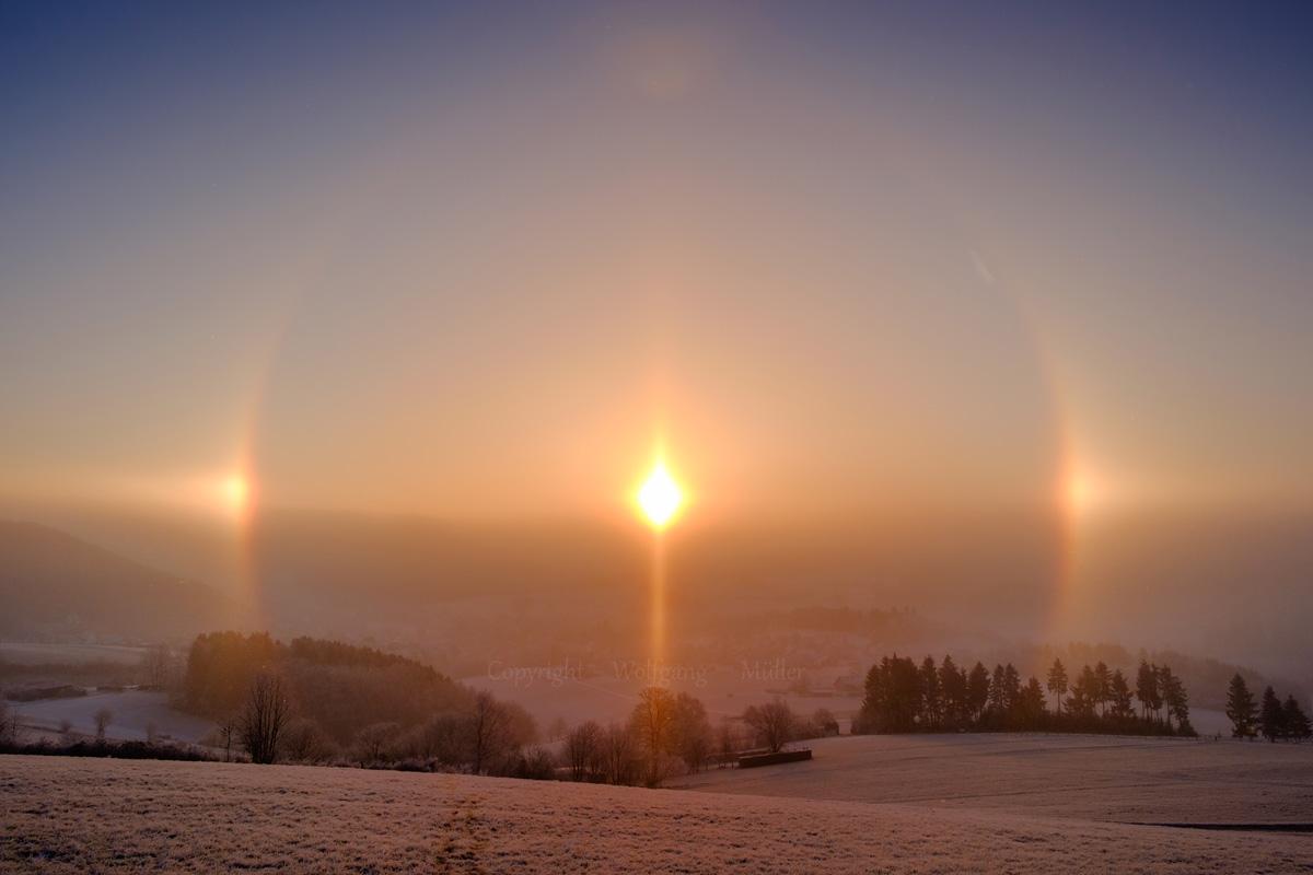Himmelsphänomen am Neujahrsmorgen