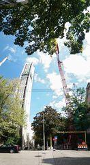 Himmelwärts Kran Turm