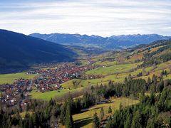 Hindelang von Oberjoch gesehen