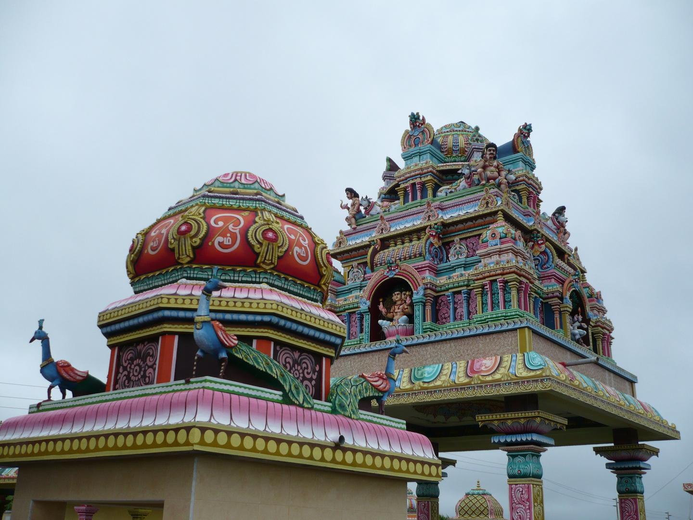 Hindu temple near Curepipe, Mauritius