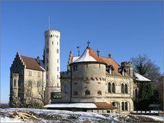 Hinter dem Schloss Lichtenstein
