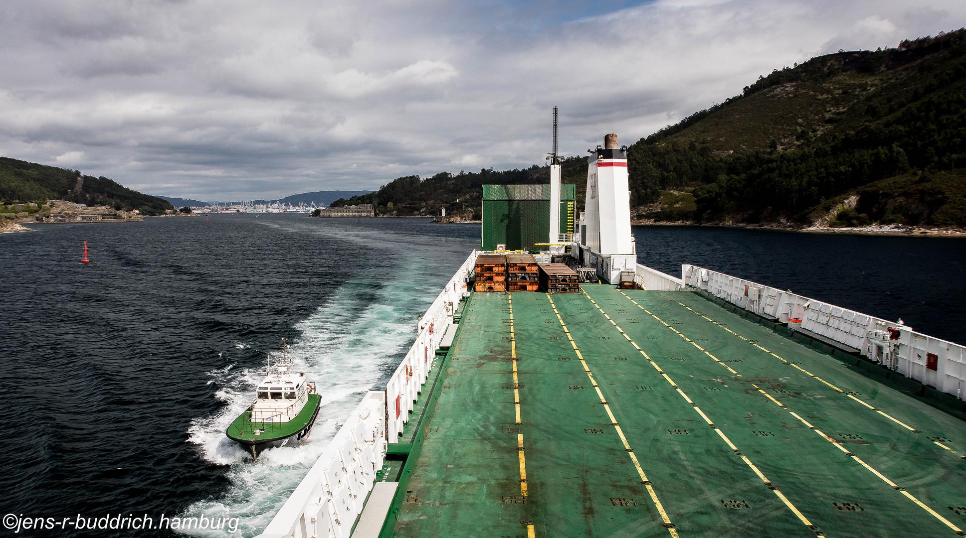 Hinter uns El Ferrol