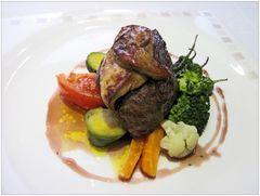 Hirsch-Steak mit Entenleber