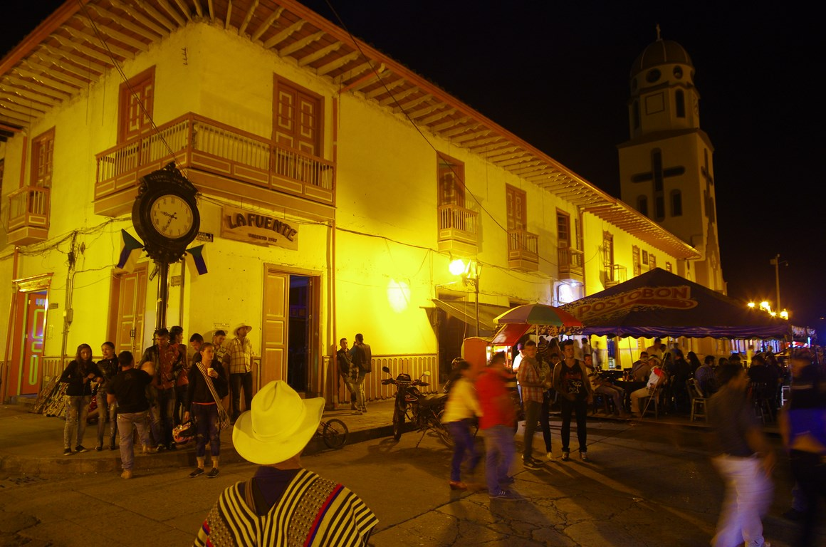 Historic town of Salento in Colombia
