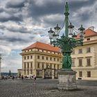 Historische alte Gaslaterne am Schloss Platz
