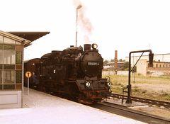 Historische Dampf-Lok der Harzer Schmalspurbahn