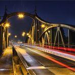 historische Drehbrücke in Krefeld-Linn  .....