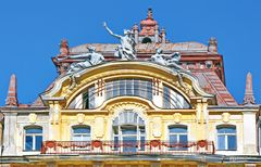 Historische  Hausfassade in Marienbad