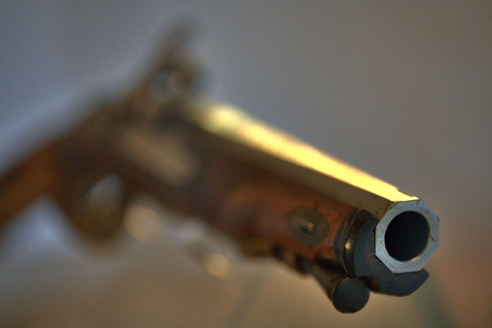 Historische Perkussions-Pistole
