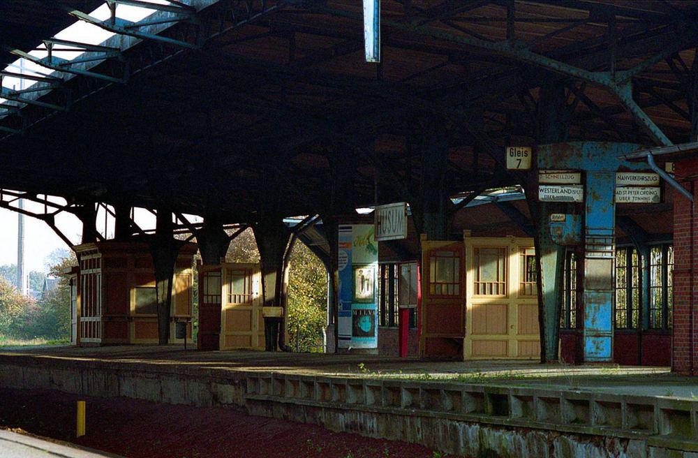 Historischer Bahnsteig Husum