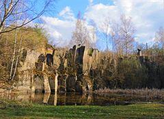 Historischer  Basaltlava - Steinbruch