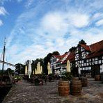 Historischer Hafen von Wanfried an der Werra