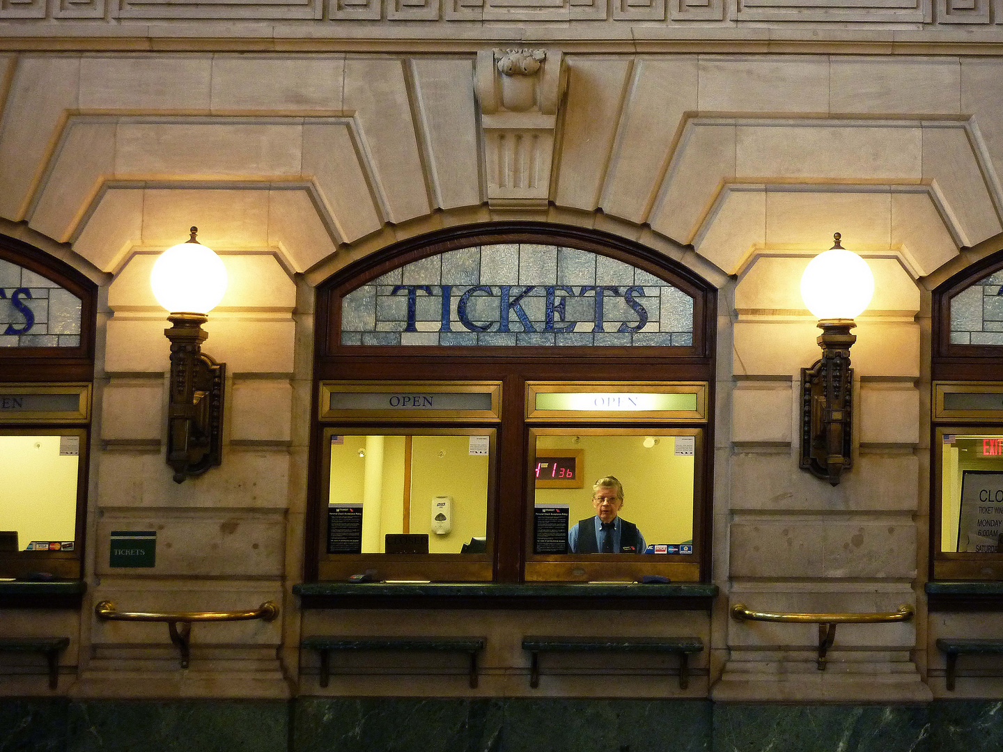 Historischer Ticketschalter in Lackawanna Trainstation