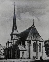 Historisches Foto Dreifaltigkeits-Kirche Harburg