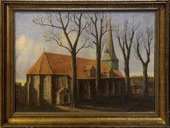 Historisches Gemälde Dreifaltigkeitskirche Harburg