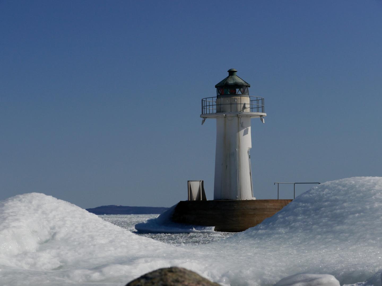 Hjo Hafen im Winter
