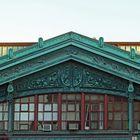 """Hoboken 27. """"Ferries to New York"""" copper-clad gable"""