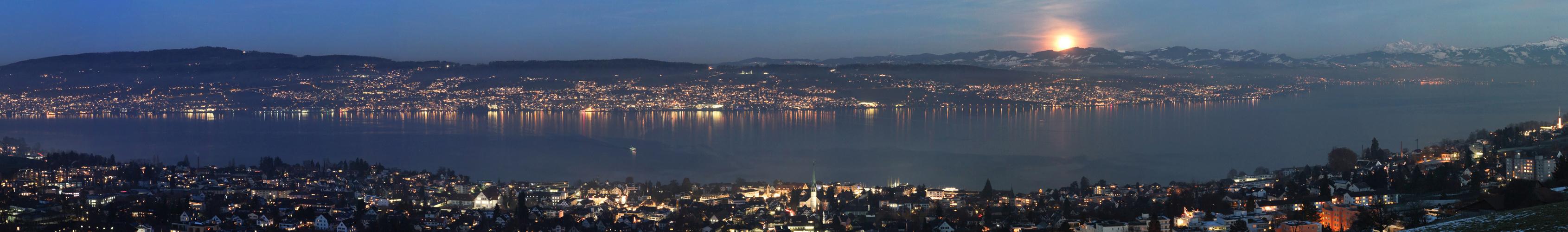 Hoch über dem Zürich See