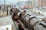 Hochbetrieb am Tage im Bw Saalfeld 1980
