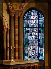 Hochchor Kirchenfenster Abtei Brauweiler