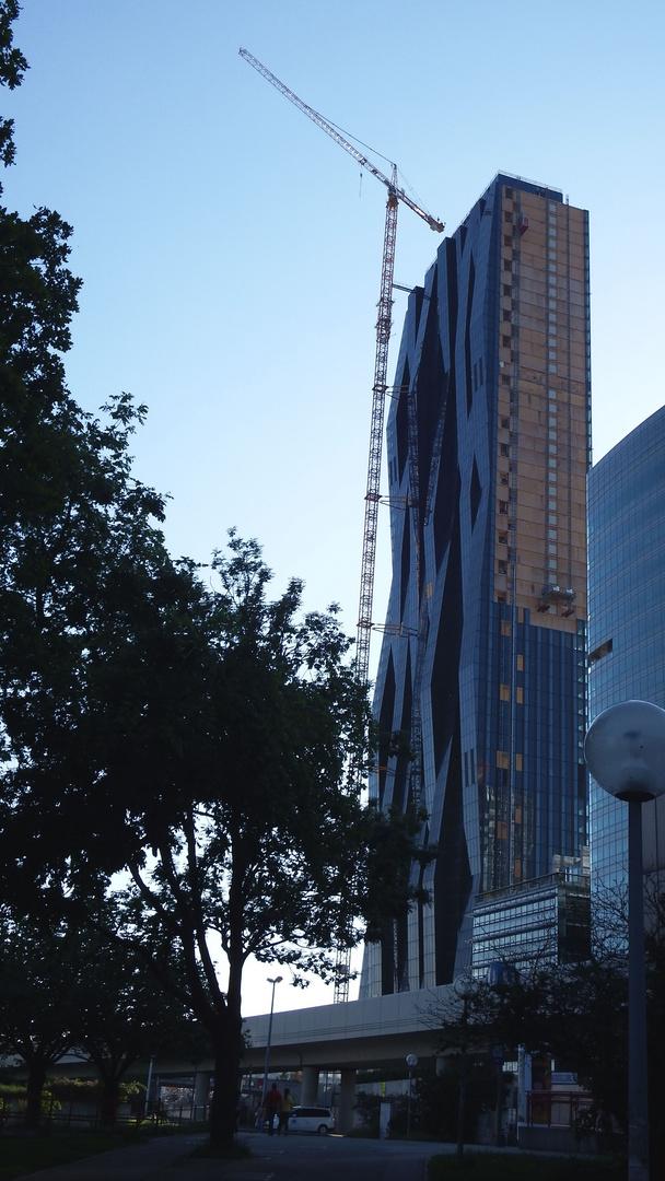 Hochhaus Baustelle