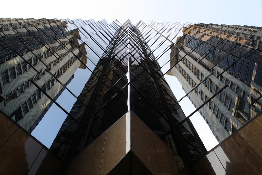 Hochhaus Fasade in Kowloon