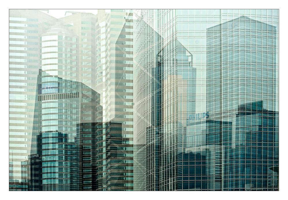 Hochhausimpression in Hongkong
