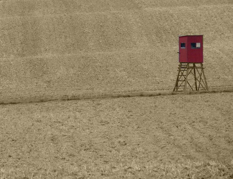 Hochsitz im Feld