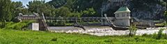 Hochwasser führende Mur in Gratwein/Gratkorn!