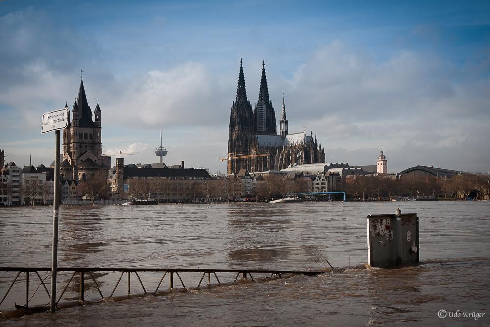 Hochwasser in Köln 2011 -1