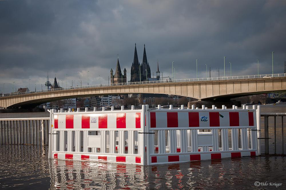 Hochwasser in Köln 2011