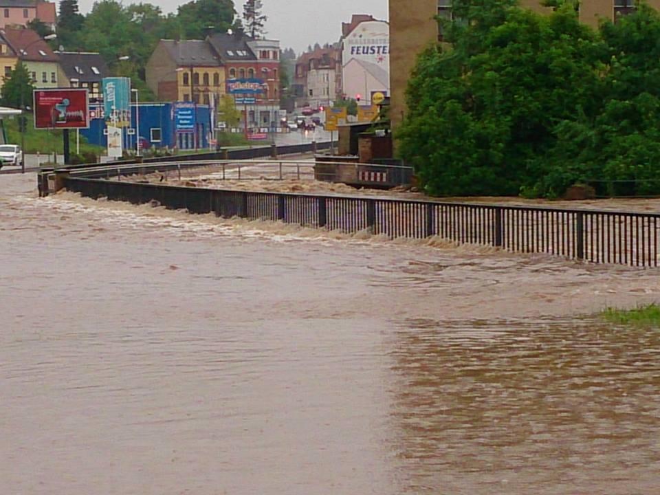Hochwasser in Werdau - Echt heftig