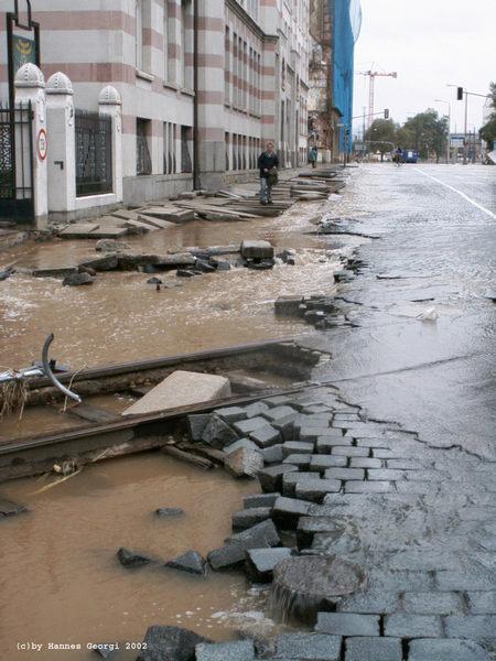 Hochwasserschäden in Dresden-Friedrichstadt