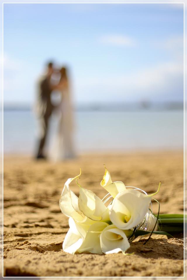 Hochzeit Am Strand Foto Bild Hochzeit Strand Blumen Bilder Auf