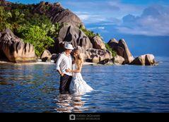 Hochzeit an der Anse Source d´Argent (La Digue, Seychellen)