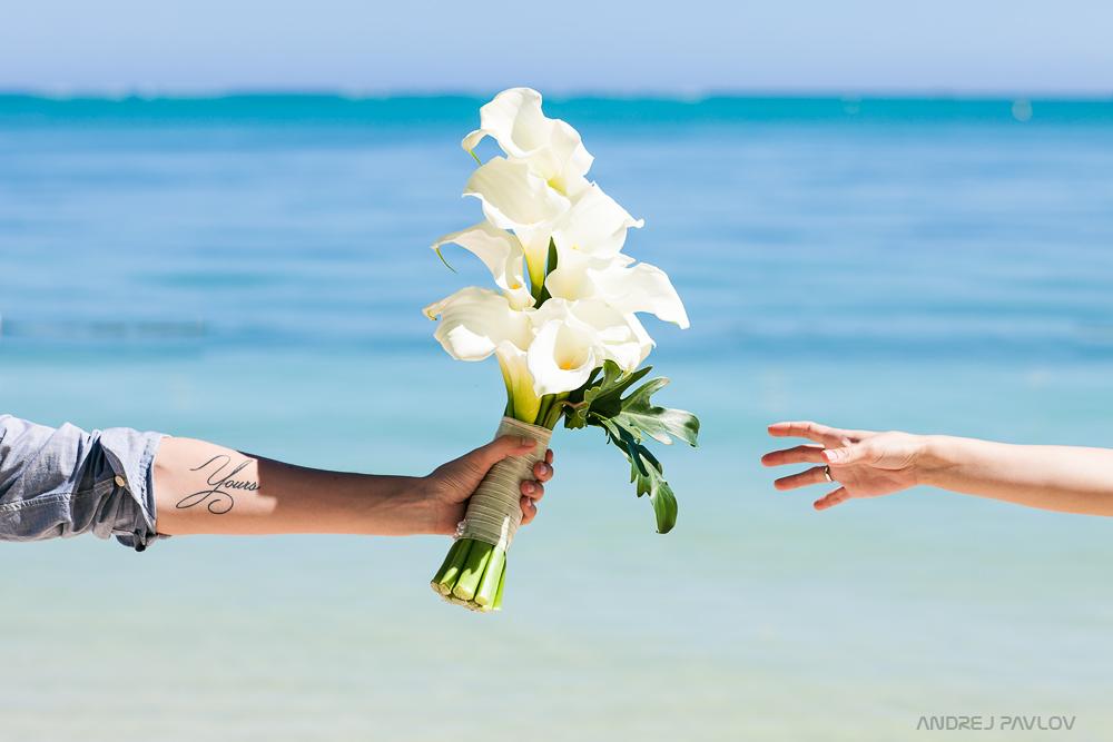 Hochzeit auf Mauritius.