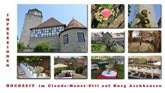 Hochzeit im Claude-Monet-Stil auf Burg Aschhausen Nr.1