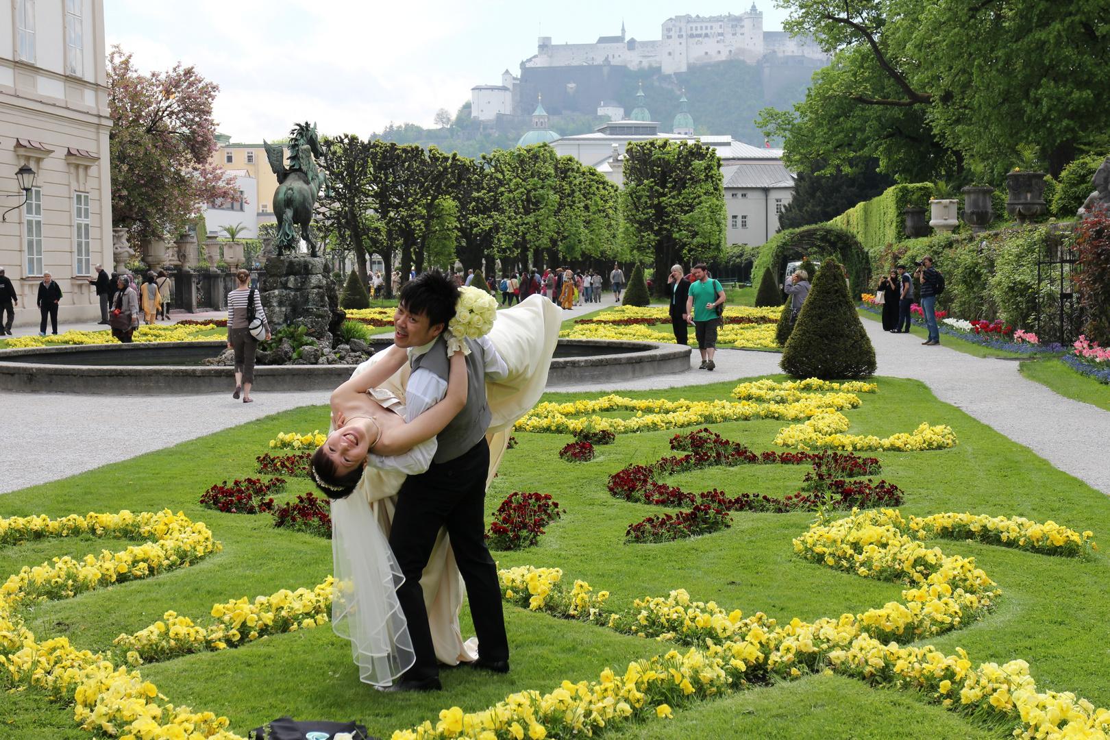 Hochzeit im Mirabellgarten Salzburg