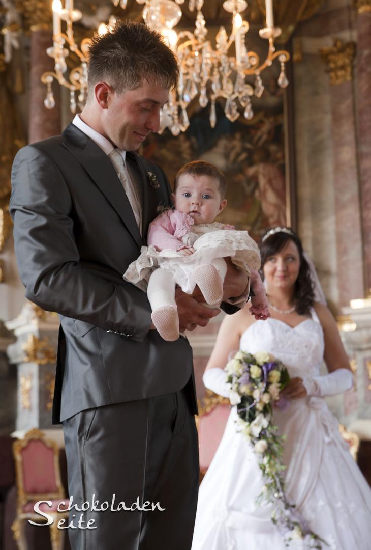 Hochzeit mit besonderem Gast