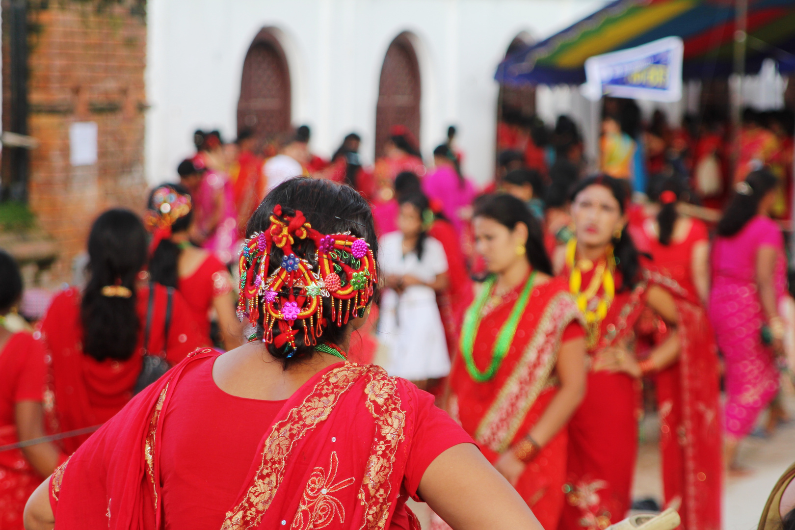 Hochzeits Saris - Teej-Fest