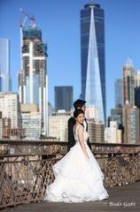 Hochzeitsbilder auf der Brooklyn Bridge