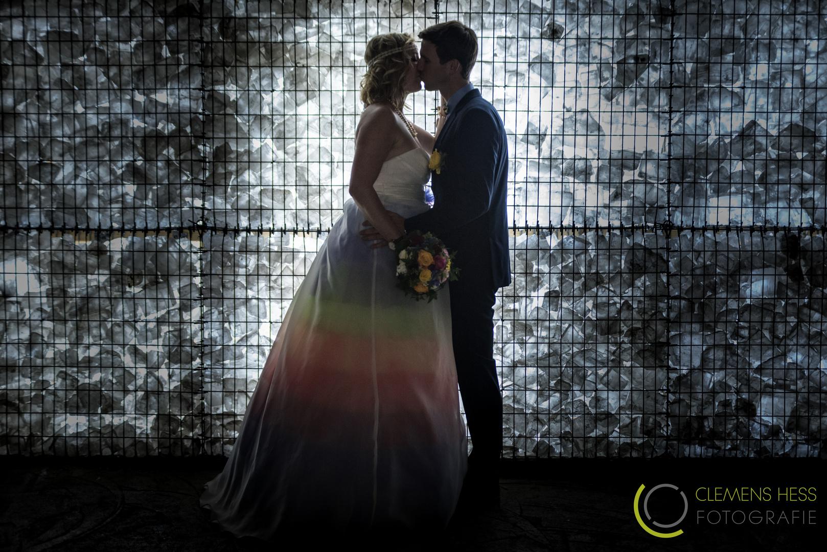 Hochzeitsfoto im Salzbergwerk