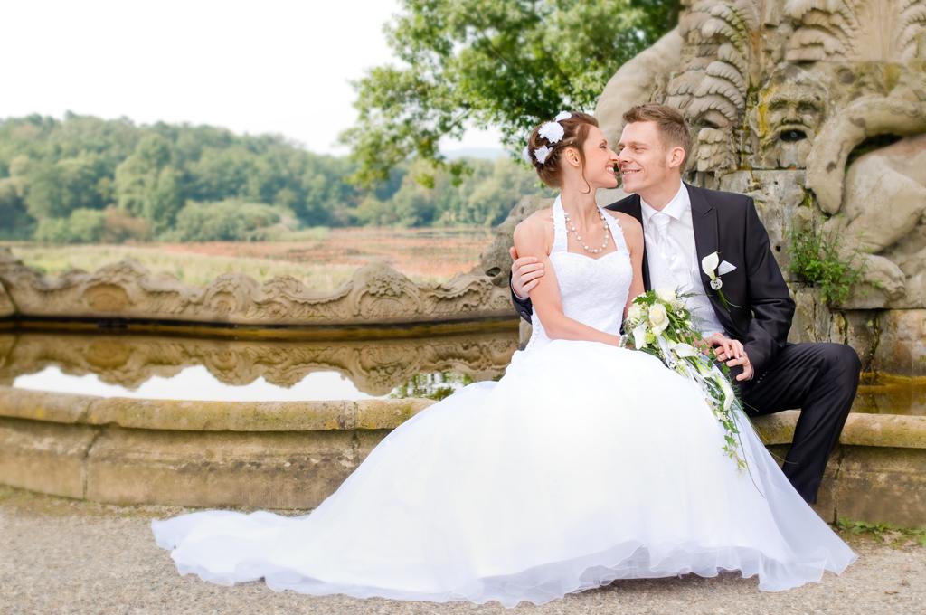 Hochzeitsfotos auf Schloss Seehof