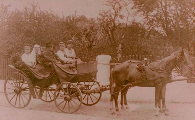 Hochzeitskutsche der Großeltern