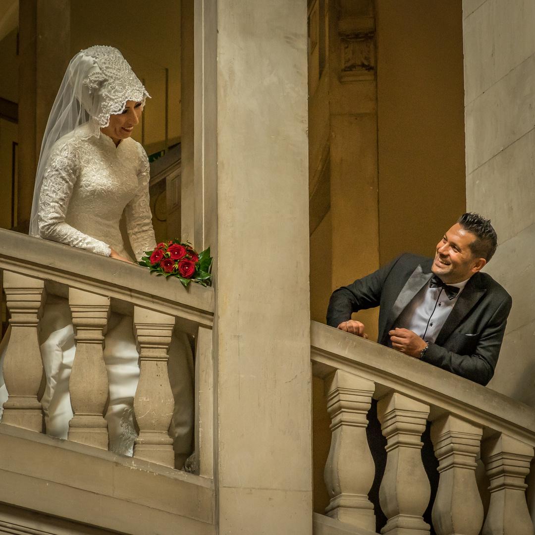 Hochzeitspaar im Neuen Rathaus - Hannover