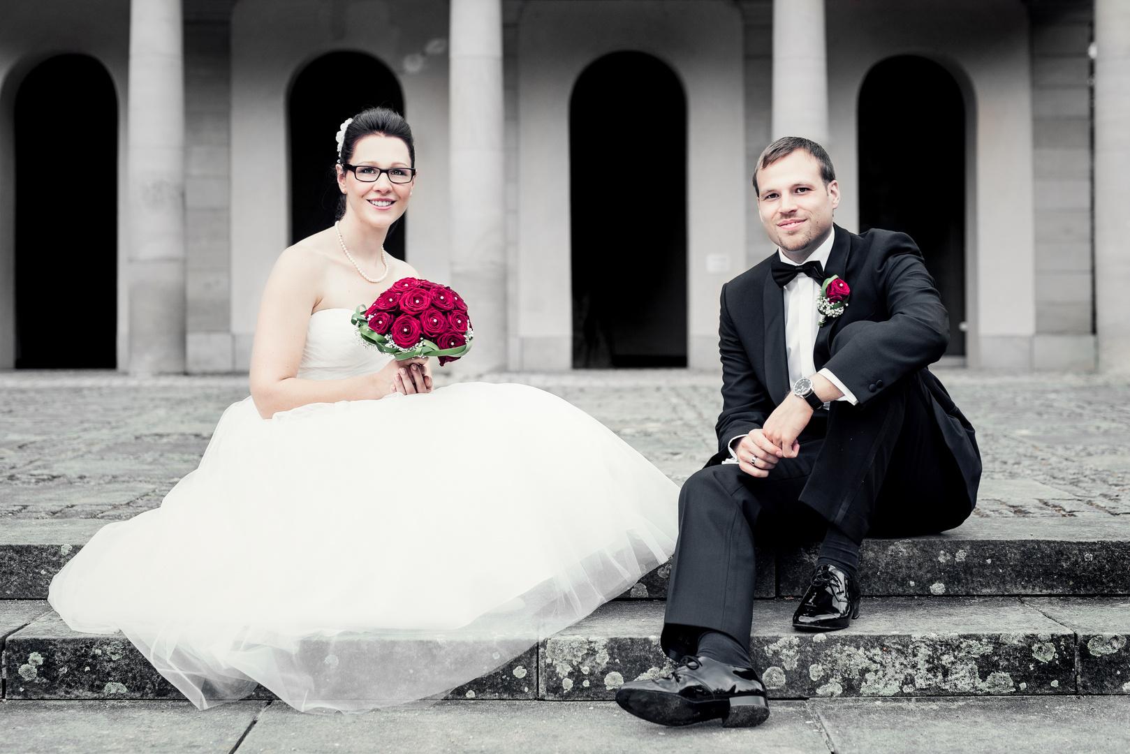 Hochzeitspaar Portrait Foto Bild Portrait Emotionen Hochzeit