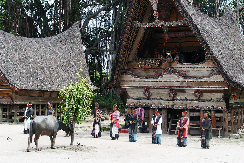 Hochzeitszeremonie Auf Einer Insel Im Tobasee Foto Bild Asia